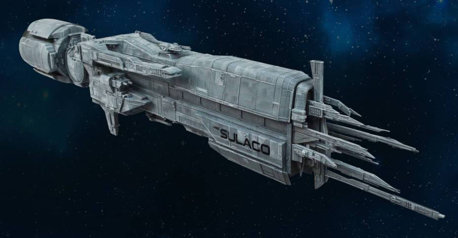 Sulaco space ship from the movie Aliens